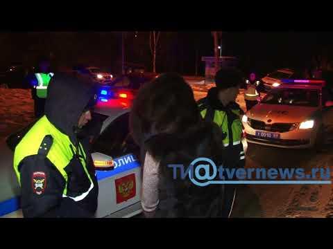 Задержание пьяной женщины-водителя в Твери