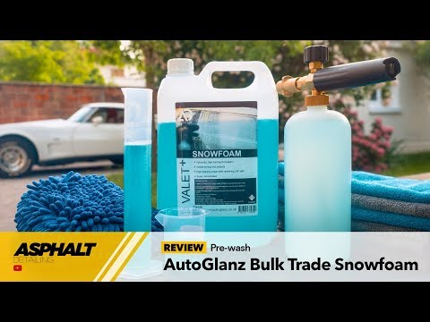 REVIEW — AutoGlanz Bulk Trade Snowfoam, economical and effective — Asphalt Detailing (EN)