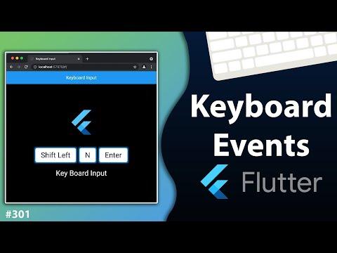 Flutter Tutorial - Keyboard Events & Keyboard Listener In Flutter Web [2021] Detect Keypress Event