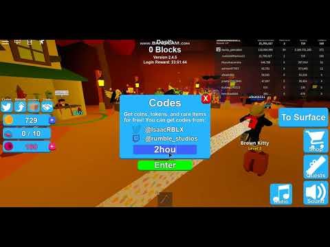 Roblox All Mining Simulator Codes 2019!