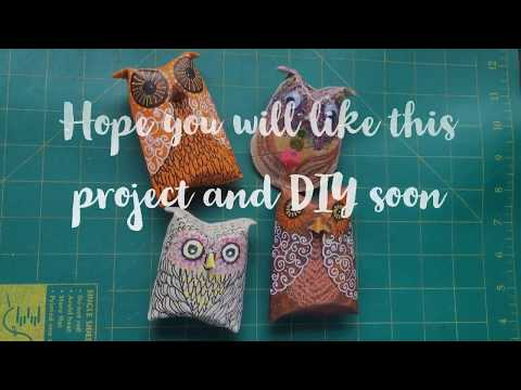 DIY: Making Owls using toilet rolls or kitchen towel rolls