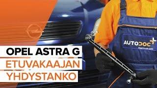 Kuinka vaihtaa kallistuksenvakaajatanko eteen OPEL ASTRA G -merkkiseen autoon [OHJEVIDEO]