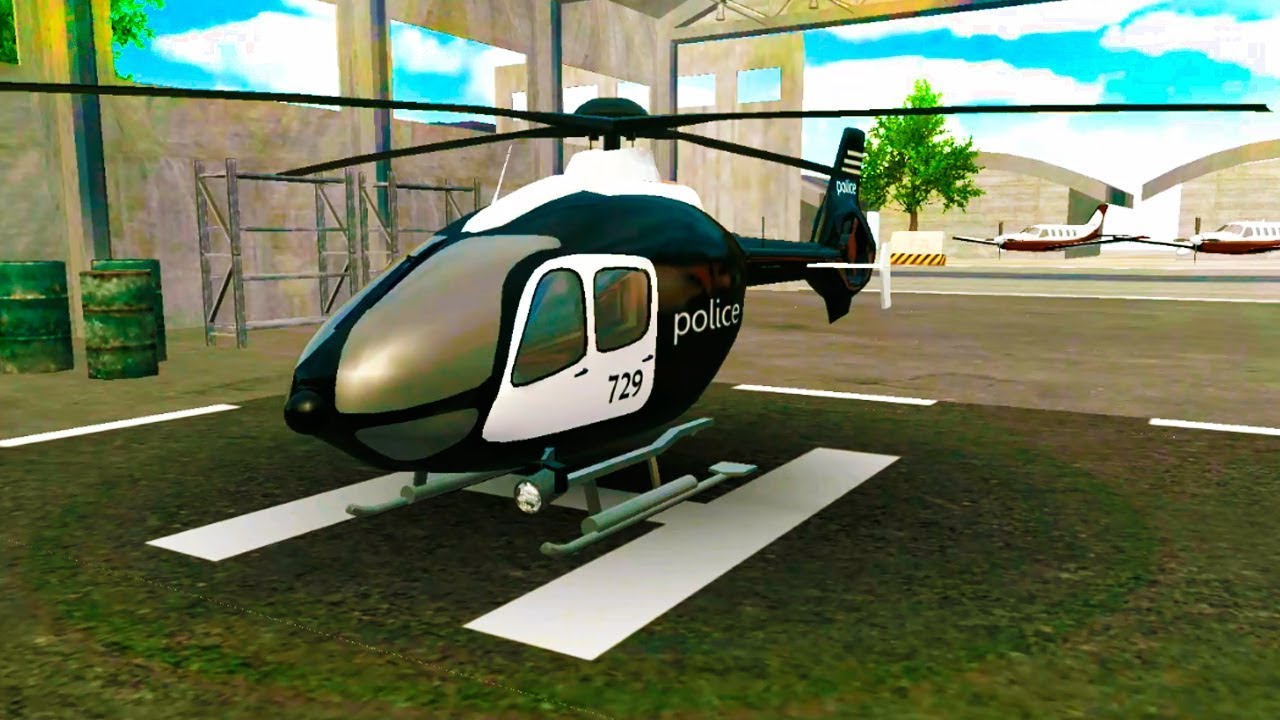 Police Helicopter Flying Simulator Android Gameplay FullHD - YouTube