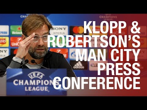 Jürgen Klopp & Andy Robertson's Man City press conference |