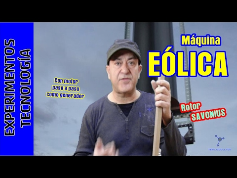 Maquina EOLICA. Rotor Savonius para cargar el teléfono móvil
