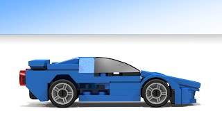 How to Build a small Lego Bugatti EB 110