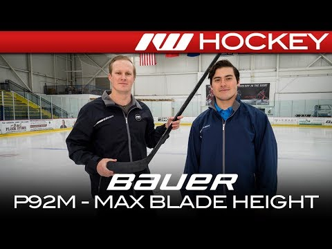 Bauer P92M Max Blade Height Curve Insight