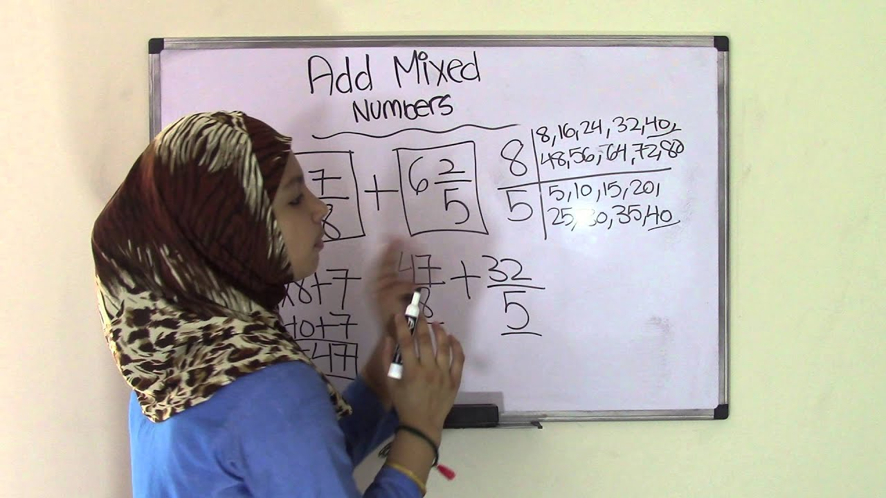 5th Grade Math Add Mixed Numbers