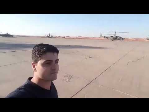 Russia Kamov Ka 50 attack helicopters operating from DeirEzzor airbase 15 10 2017