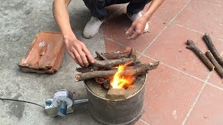How To Building Stove Step By Step - Homemade Rocket Stove, Easy Homemade