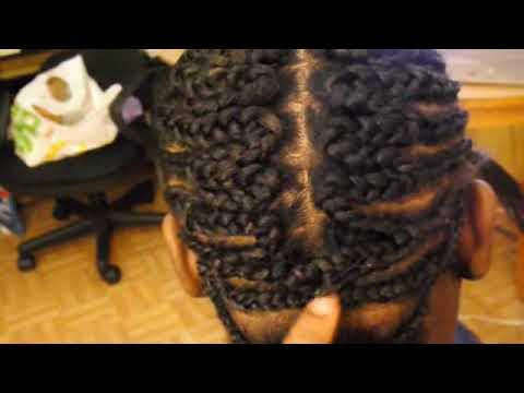 THE BEST FLAT BRAID PATTERN FOR A Partial SEW-IN WEAVE - YouTube