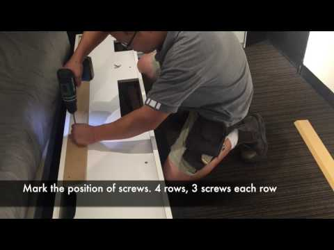 How to install a Wall Cabinet on a plasterboard wall - BoConcept Sydney