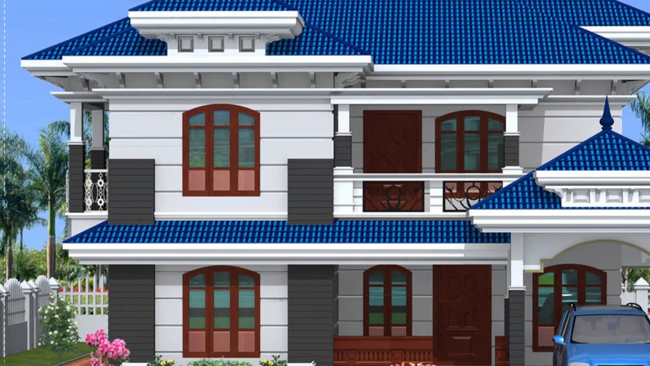 Modern House Front Design Indian Style - YouTube