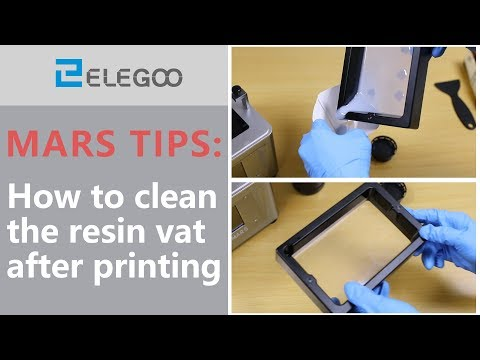 ELEGOO Mars: How to clean the resin vat after printing