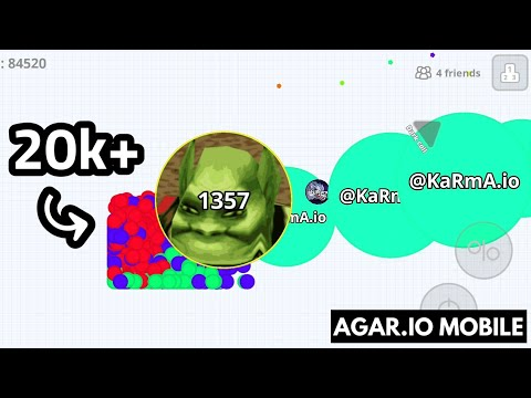 TROLLING MODE + 20k MASS IN THE CORNER + 20 AFK PIECES ( AGARIO MOBILE )