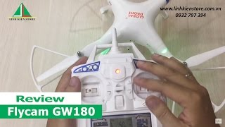 Flycam Global Drone GW180 - Đập hộp và hướng dẫn sử dụng