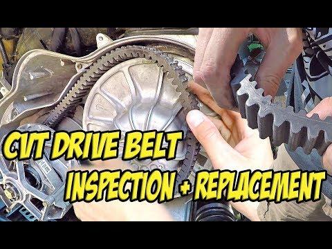 CVT Belt Removal/Replacement - How to Inspect a SXS/UTV/ATV Drive Belt - #TeamAJP Install Vlog 004