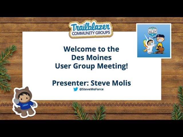 Des Moines, IA Salesforce User Group Meeting - Steve Molis