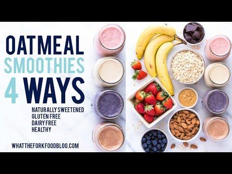 Oatmeal Smoothies 4 Ways