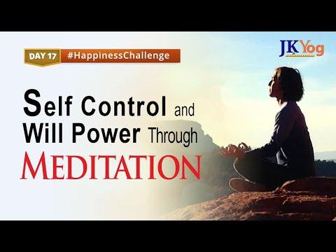 Self Control and Will Power through Meditation - Happiness Challenge Day 17   Swami Mukundananda