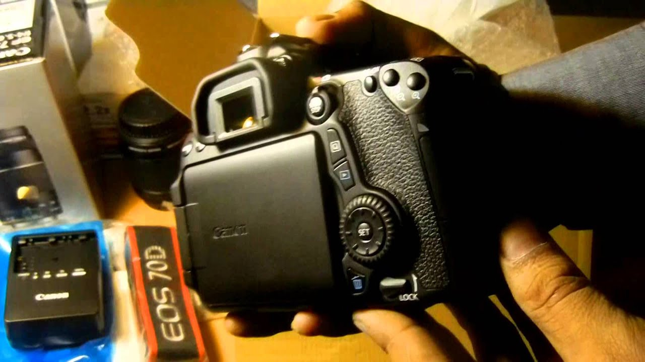 Canon EOS 70D SLR Camera from Ebay | Canon 70D Unpacking Review in India