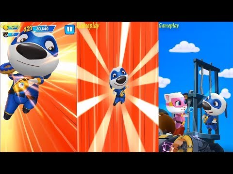 Talking Tom Hero Dash Android Gameplay #3 - TALKING HANK UNLOCKED