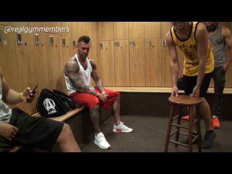 real gym members mens locker room getting ready for shirtless live gym cam after hours youtube On mens room live