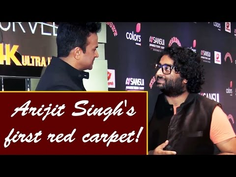arijit-singh's-first-ever-interview-at-a-red-carpet-event-!