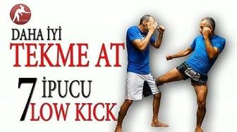 Daha İyi Tekme atmak için 7 İpucu: Low Kick  #01 Tekme Güçlendirme