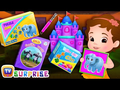 ChuChu TV Surprise Eggs Toys - Going To The Forest Song - Learn Colours and Wild Animals