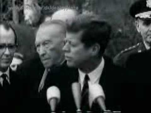 President John F. Kennedy and the German leaders