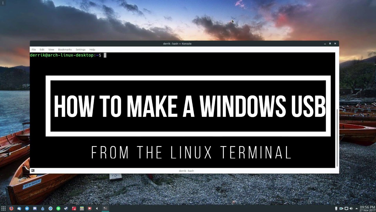 How To Make A Windows USB From The Linux Terminal