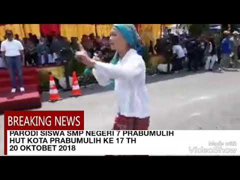 Smpn 7 Prabumulih Parodi Siswa Smp Negeri 7 Prabumulih Di Hut Ke 17