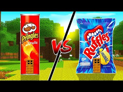 CASA PRINGLES vs CASA RUFFLES NO MINECRAFT !!