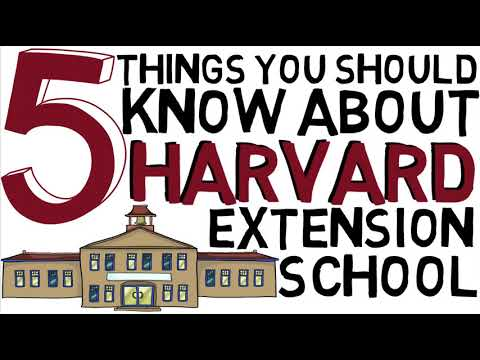 Things you Must Know about Harvard Extension School before