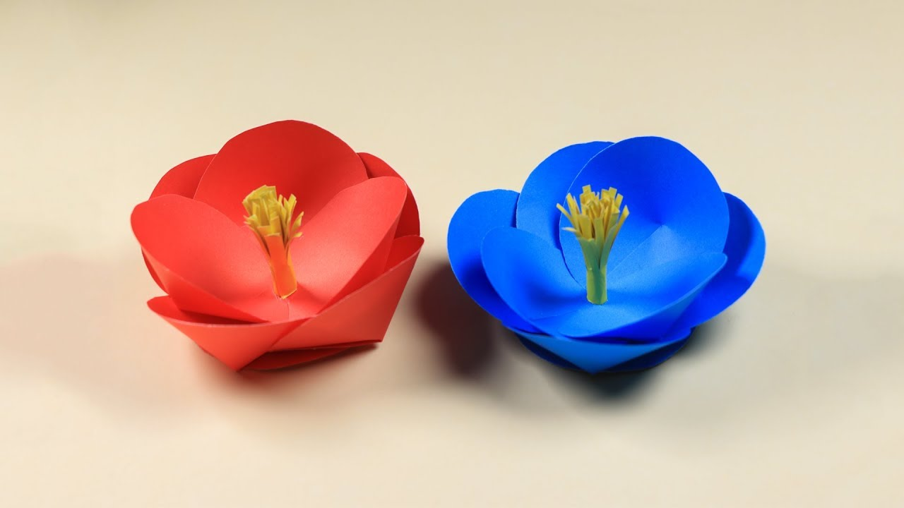 Paper Flower Making How To Make A Flower With Paper Very Easy