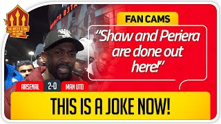 RANTS! SOLSKJAER CLUELESS! Arsenal 2-0 Manchester United FanCam