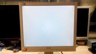 Ремонт монитора Philips 170S. Белый экран. Конденсаторы и не только..(, 2015-11-29T17:53:22.000Z)