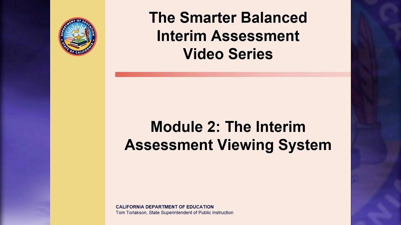 Smarter Balanced Interim Assessment Video Series - Smarter ...
