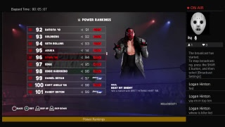 WWE 2k18 Universe mode Power Rankings for the week of 9\16\18