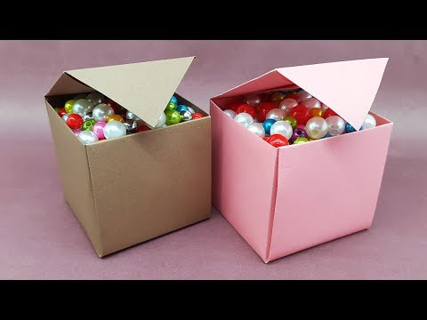 How to make Paper Box that opens and closes | DIY Paper Crafts idea | Easy Origami Box