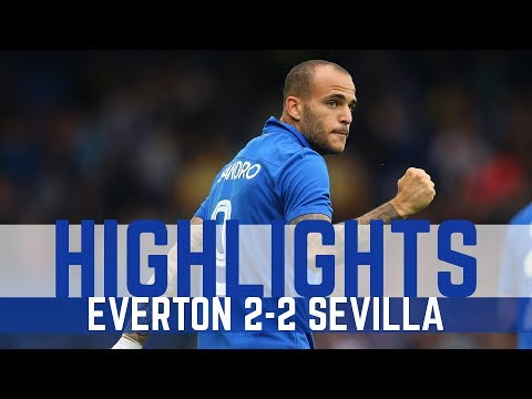 HIGHLIGHTS: EVERTON 2-2 SEVILLA - SANDRO AND MIRALLAS SCORE