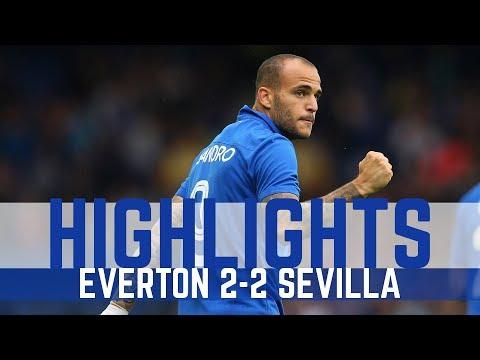 HIGHLIGHTS: EVERTON 2-2 SEVILLA - SANDRO AND MIRALLAS SCORE