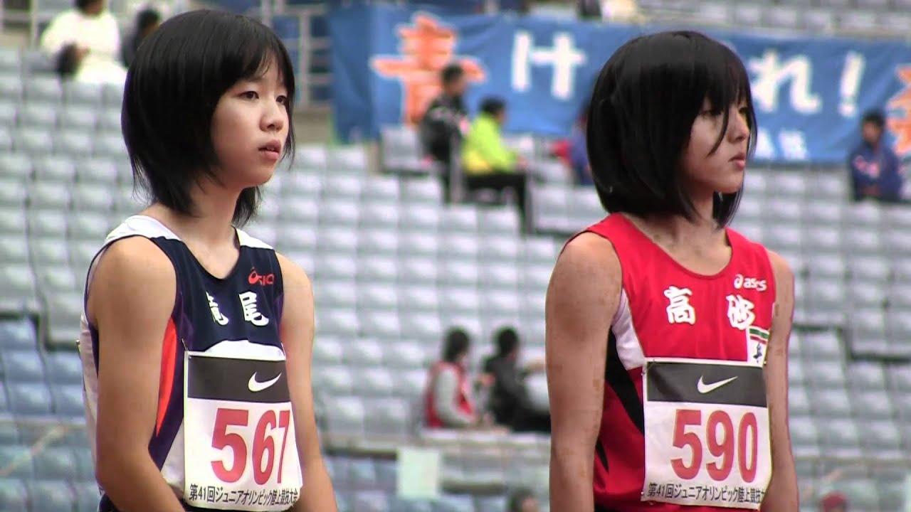 Track and field W'100m Final Jr.Olympics陸上2010-1023