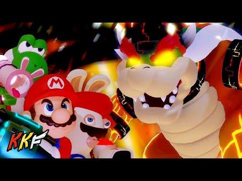 Lava Pit-BOSS: Bowser's Castle (vs MegaDragonBowser) - Mario + Rabbids Kingdom Battle