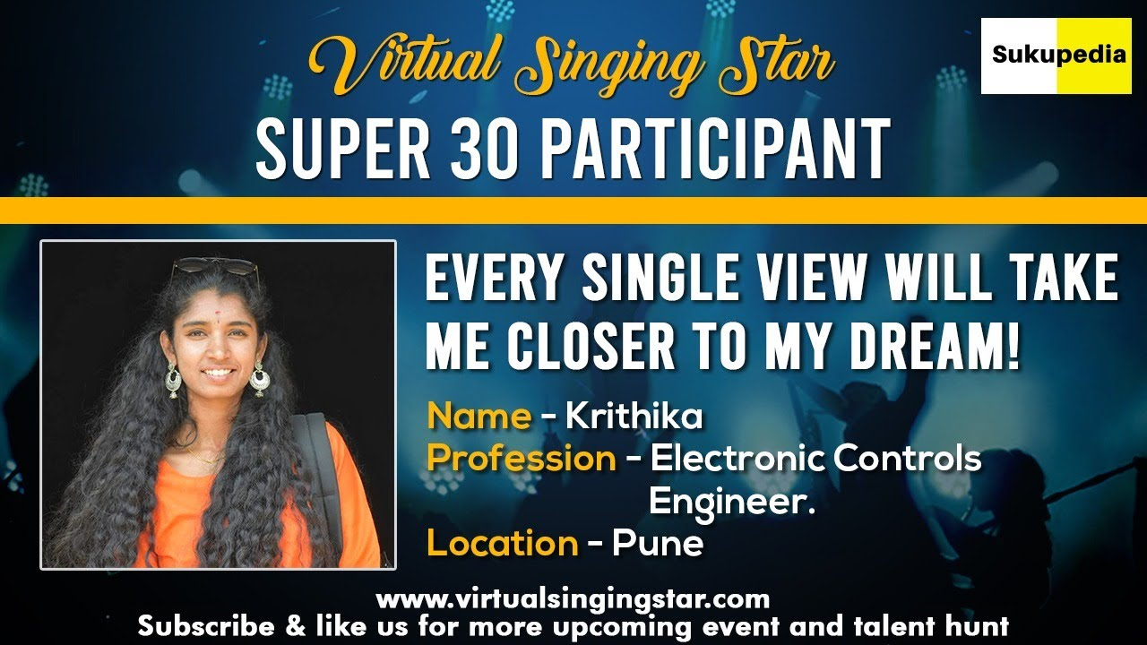 Must Watch Super 30 Qualifier Krithika Ramesh Babu Virtual Singingstar Participant Online Singing Youtube