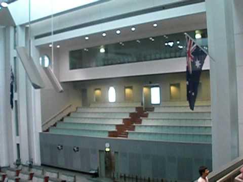 Inside Australian Parliament Canberra (January 2010)