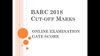 BARC 2018 - Official Cut-offs