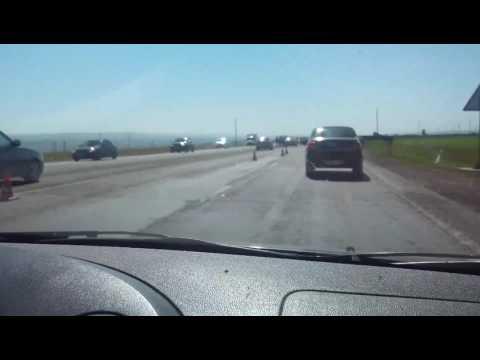 Крупная авария на трассе   М29 Невинномысск-Курсавка