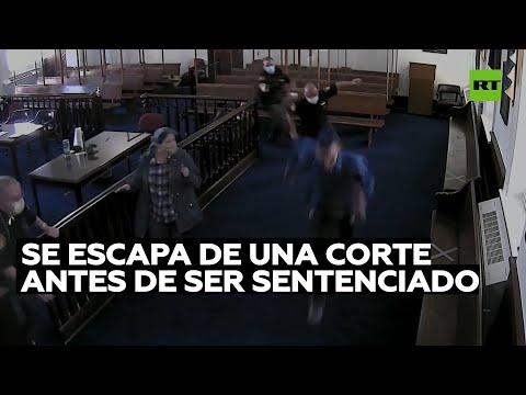 Un delincuente se escapa de una corte antes de ser sentenciado